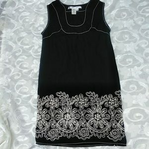 Max Studio black linen sleeveless dress